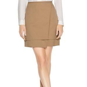 WHBM Khaki / Tan Layered Mini skirt 12